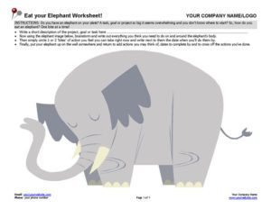 Eat Your Elephant Worksheet