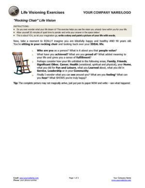 Life Vision Coaching Exercises Page 1