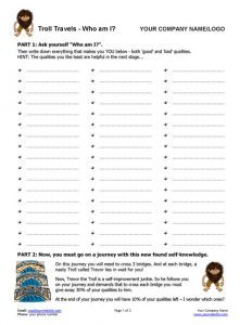 Self-Discovery Exercise using Troll Page 1