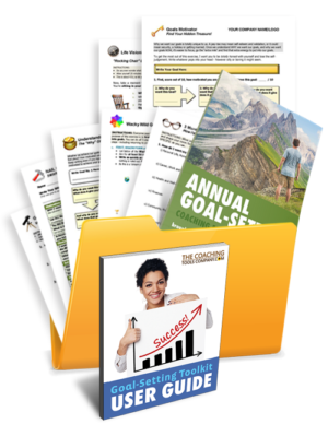Vision and Goal-Setting Tools, Forms, Exercises, Templates in a Folder