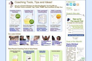 New Coaching Tools Catalogue Homepage Screenshot