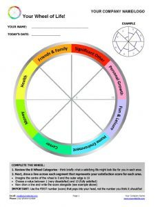 12 awesome new ways to use the wheel of life tool in your for Blank wheel of life template