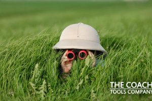 How to Know if Your Client is Serious About Their Goals - Child looking through in Binoculars!