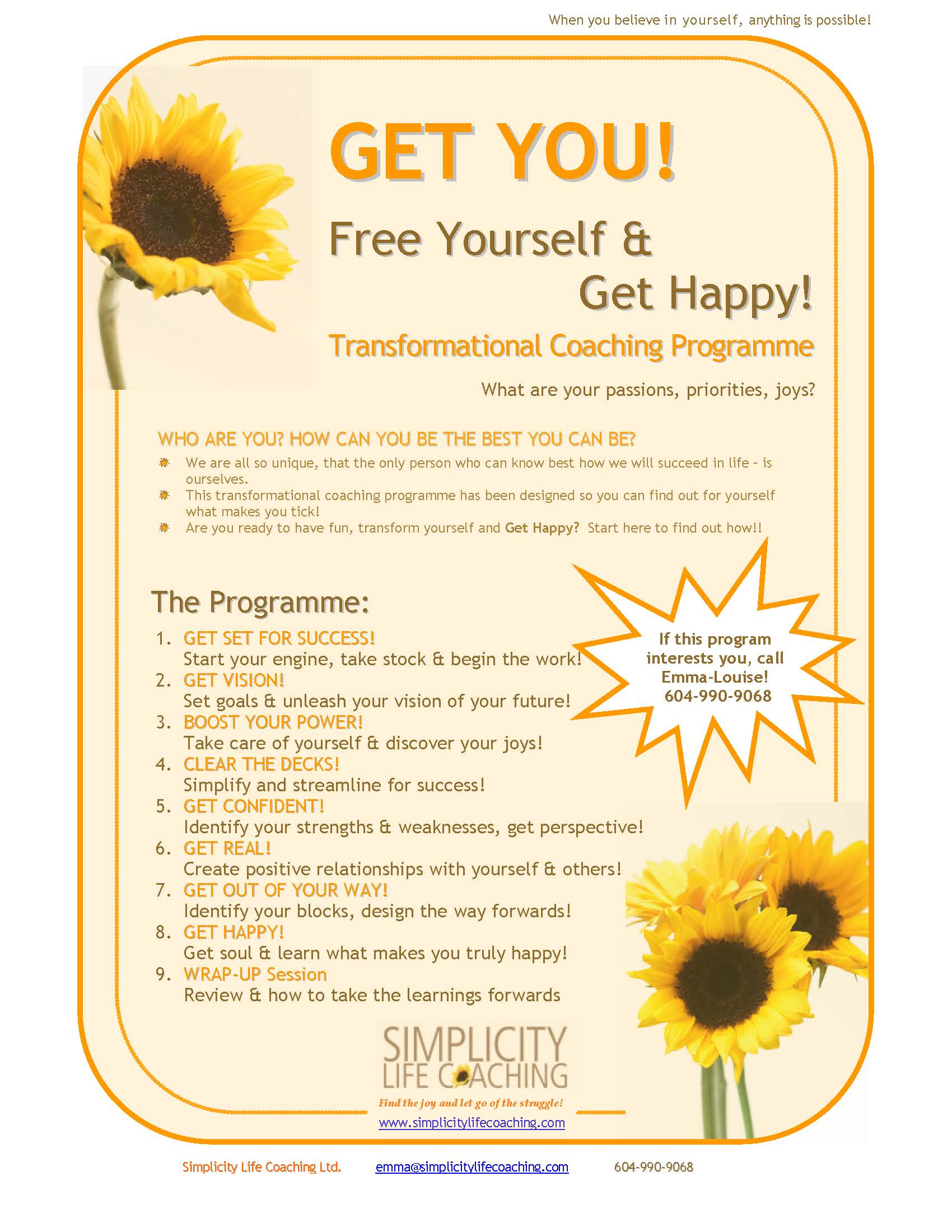 coaching programme flyer image