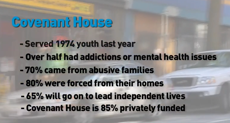 Covenant House Vancouver Stats