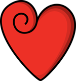 red heart used for quotes about love article