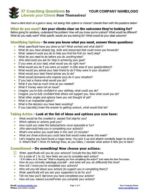 dating coach questionnaire
