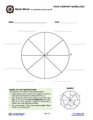 Blank Wheel of Life Exercise