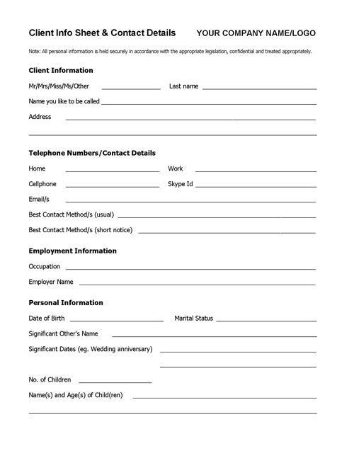 simple work availability form