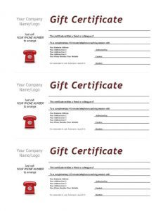 Complimentary Session Voucher Template