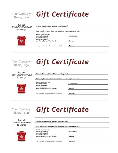 Complimentary Session Vouchers TEMPLATE – Vouchers Template