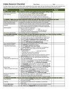 Intake Session TEMPLATE Checklist Coaching Form Image