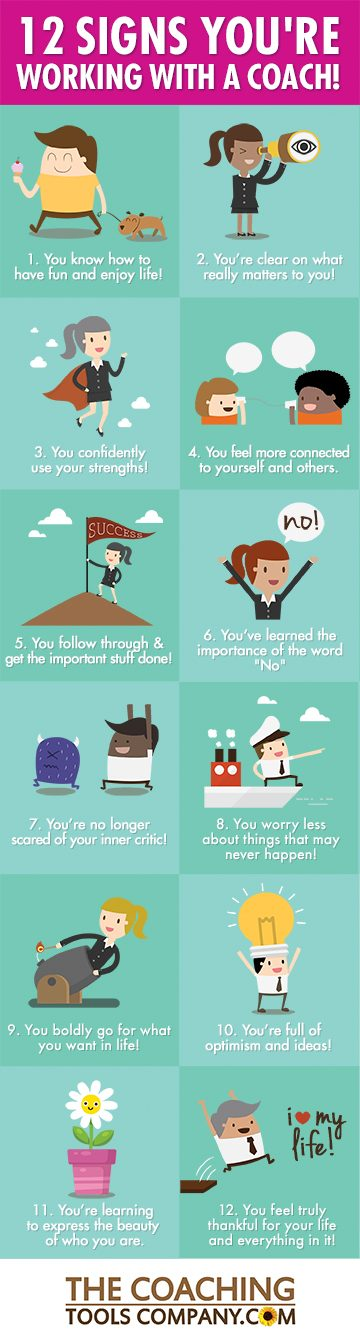 12 inspiring signs you re working with a coach infographic the