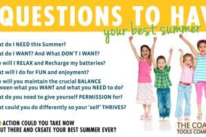 The Coaching Tools Company - 7 Qs To Have Your Best Summer Ever Graphic