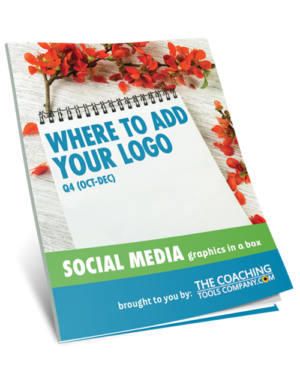 Social Media Graphics for Coaches WHERE ADD LOGO (Q4)