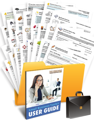 Small Business Coaching Tools, Forms, Templates, Worksheets in a Folder