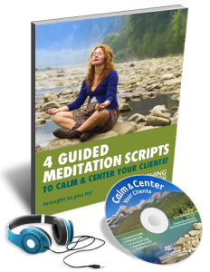 Guided Meditation Script Image for Toolkit to Help Clients Find Calm
