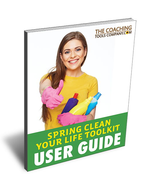 Spring Clean Your Life Exercises Toolkit 3D User Guide Cover Image