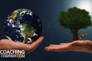 Two Hands With Earth and Tree for Voluntary Simplicity