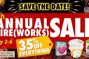 SAVE THE DATE for the 7th Annual Fireworks Sale at The Coaching Tools Company.com