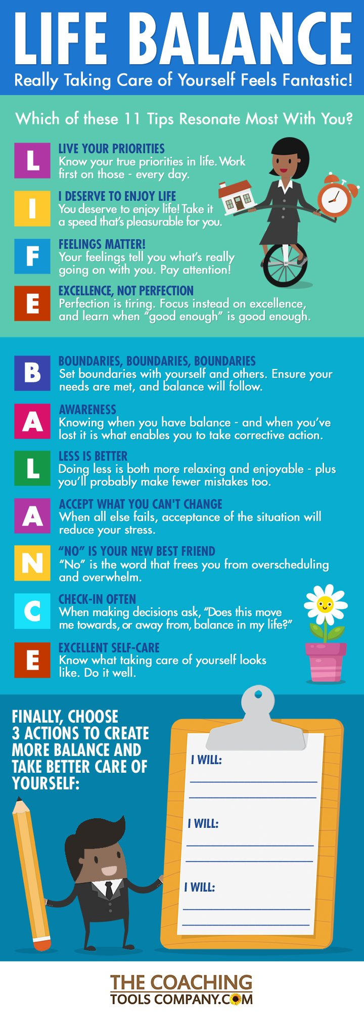 Life Balance INFOGRAPHIC: 11 Powerful Tips for More Balance in Life