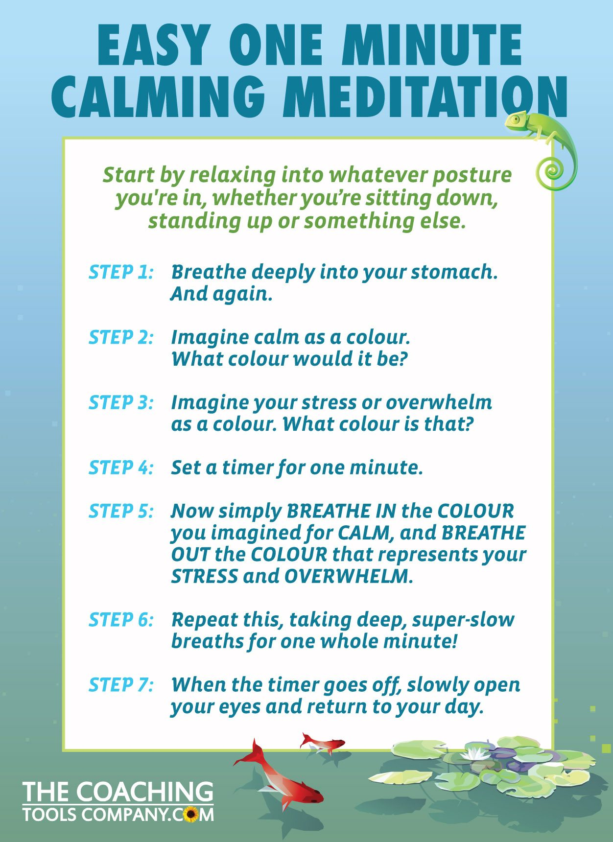 1 Minute Meditation Beautiful Graphic