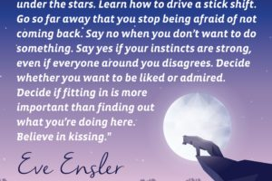 "Eve Ensler Quote ""Cherish Your Solitude"""