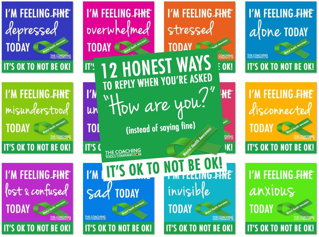World Mental Health Day - 12 Social Media Graphics to Reply when asked How are you?