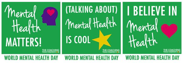 World Mental Health Day - Mental Health Matters Social Media Graphics x3