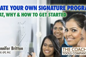 Coach writing on whiteboard to co-create Signature Program with clients