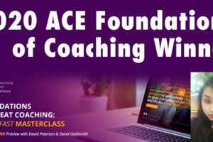 2020 ACE Foundations of Coaching Winner Annoucement