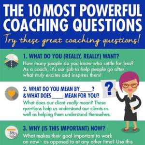 10 Most Powerful Coaching Questions Infographic