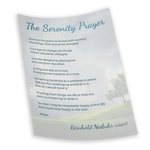 Serenity Prayer 3D Image for COVID-19 Care Package