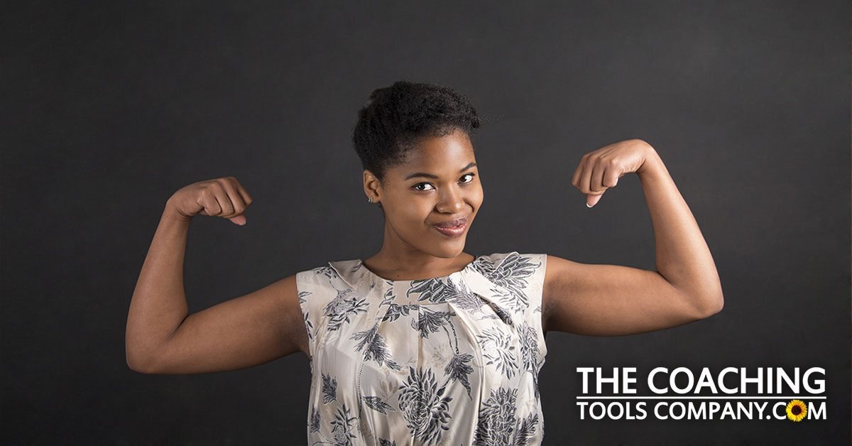 7 Resilience Strategies shown by client with strong arms
