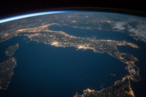 Image of Italy taken from space