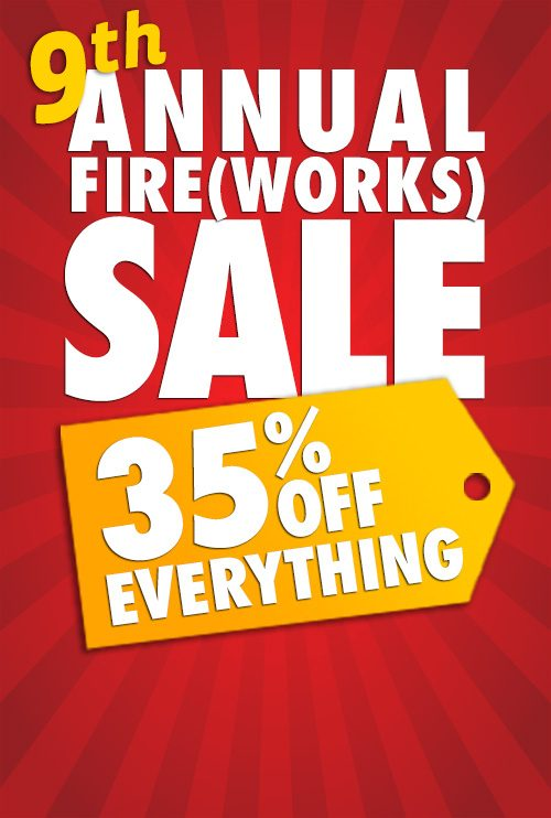 Coaching Tools 9th Annual Fireworks Sale 35% Everything