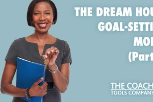 Happy Coach Holding Key to Client's Dream Goals