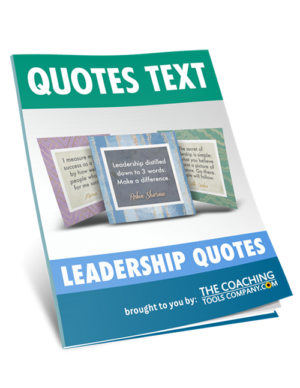 Document with all the leadership quotes text