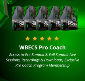 WBECS Pro Coach boxes on green background