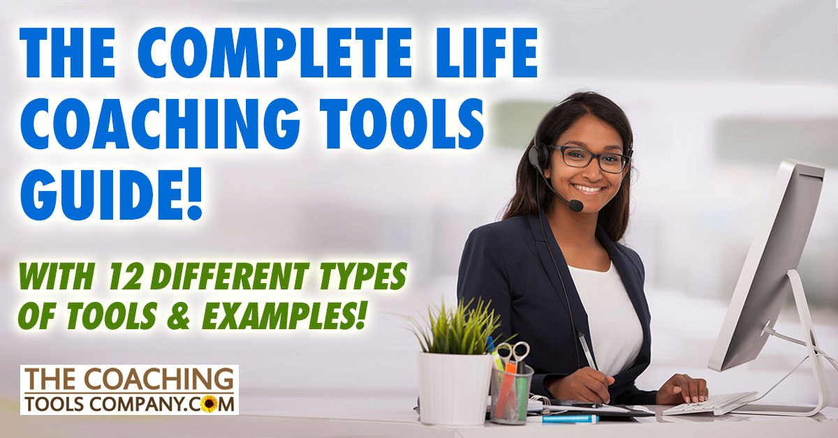 Coach at desk with Life Coaching Tools and Forms